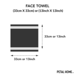 Christmas Tree Embroidered 100% Cotton Ultralux Face Towels – Set of 4