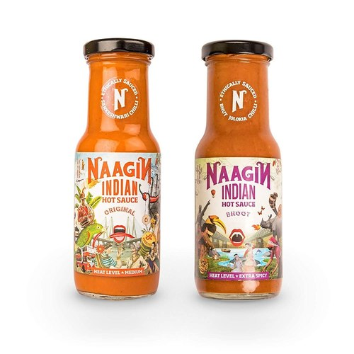 Naagin Original Hot Sauce (230g) + Naagin Bhoot Hot Sauce (230g) , (Pack of Two)