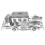 Exclusive Vintage Car Luxury Decor with Utility Case