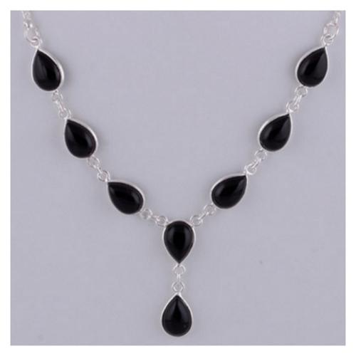The Black Onyx Silve Necklace