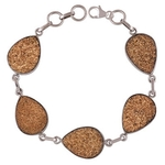 Druzy Silver Bracelet