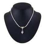 The Droplet Silver Necklace