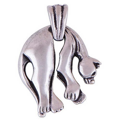 The Hanging Panther Silver Pendant