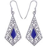 The Midnight Silver Earring