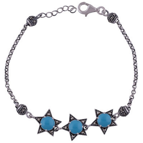 The Turquoise Star Silver Bracelet
