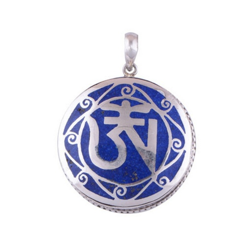 The OM Lapis Silver Pendant