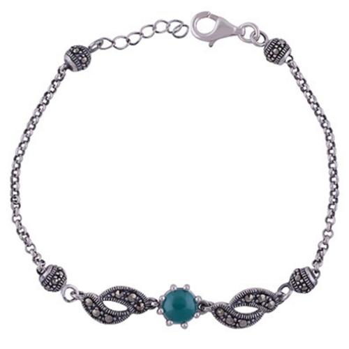 The Onyx Silver Bracelet