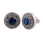 The Victorian Marcasite Cut Stone Studs