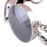 Gun Metal Silver Bracelet