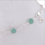 CHALCEDONY AQUA SILVER ANKLET