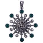 The Onyx Silver Pendant