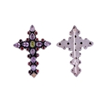 The Colorful Holy Cross Silver Brooch