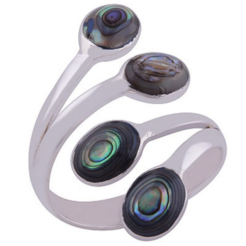 The Abalone Bud Silver Ring