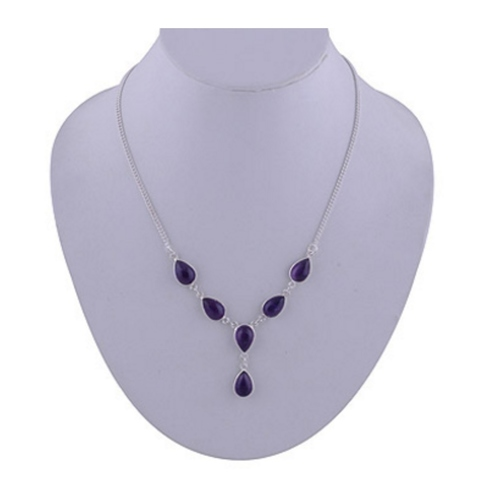 The Amethyst Silver Necklace