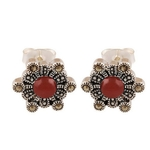 The Hexad Marcasite Silver Studs
