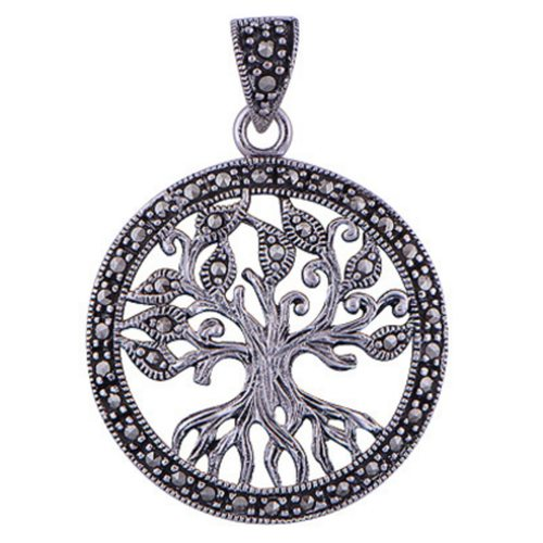The Marcasite Tree Of Life Silver Pendant
