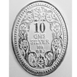 Silver Coin George King 10 Gm 999 BIS Hallmarked Purity