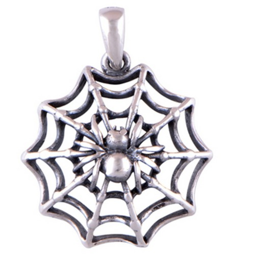 The Spider Web Silver Pendant