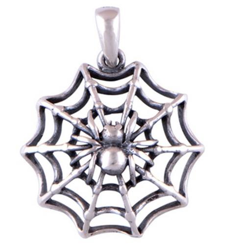 The Spider Web Silver Pendant