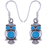 The Azure Owl Silver Earring