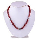 The Carnelian Silver Necklace