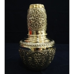 SILVER POT AND GLASS SET