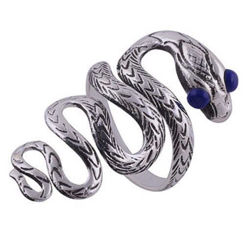 The Blue Eye Snake Silver Ring