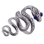 The Blue Eye Snake Silver Ring