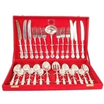 SILVER PLATED 27 PIECE CUTLERY SET - KITCHEN DINING HOME DECORATE GIFT