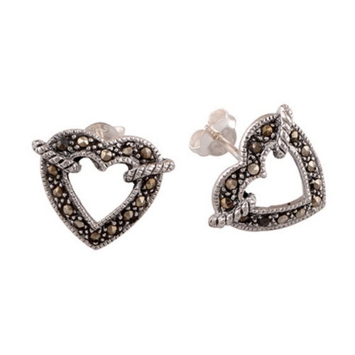 The Love Knot Marcasite Silver Earrings