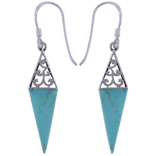 The Blue Spike Silver Earring