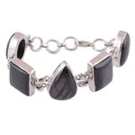 Ruby Star Silver Bracelet