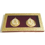 The Golden Droplet Zircon George King and Victoria Queen Silver Coin Set