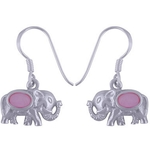 The Tusker Pink silver Earring