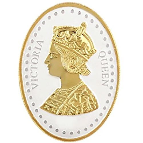 Silver Coin Queen Victoria 24 Kt Gold Plated 100 Gm 999 BIS Hallmarked