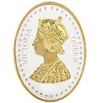 Silver Coin Queen Victoria 24 Kt Gold Plated 100 Gm 999 BIS Hallmarked