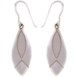 The Pink Leaf Silver Earring