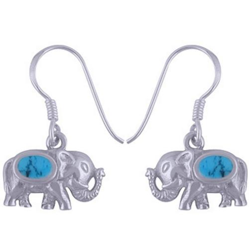 The Tusker Blue Silver Earring