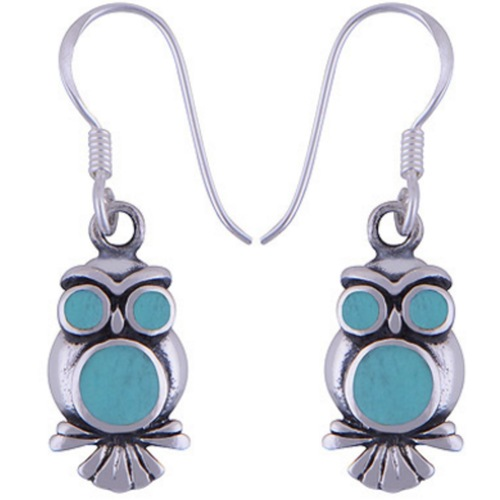 The Blue Owl Silver Earring
