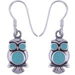 The Blue Owl Silver Earring