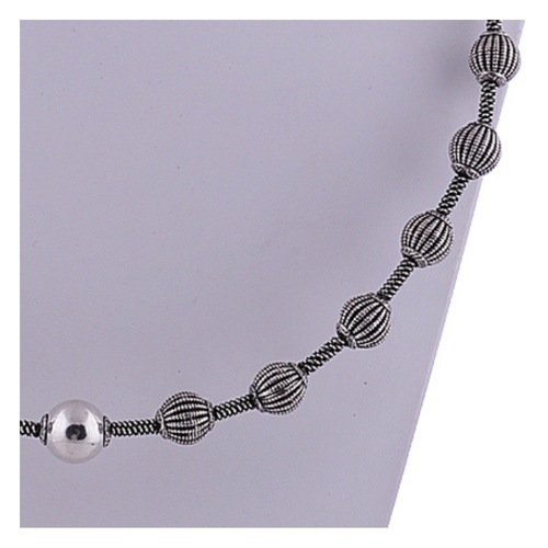 The Fleck Silver Necklace
