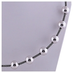 The Balls Silver Necklace