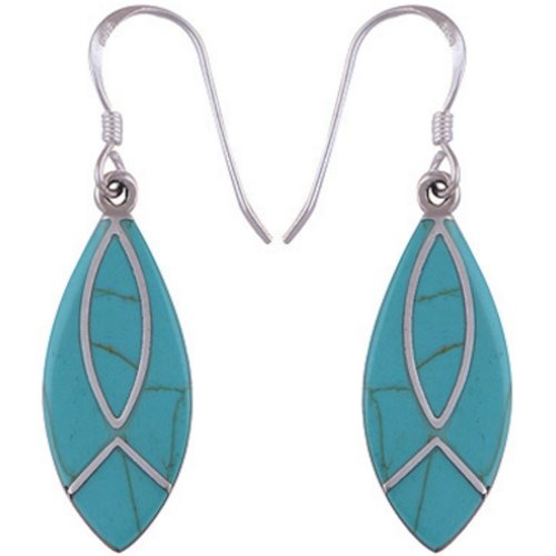 The Blue Leaf Silver Earring