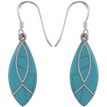 The Blue Leaf Silver Earring