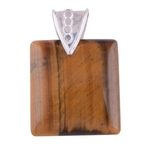 The Tiger Eye Silver Pendant