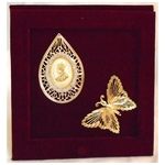 The Golden Butterfly Zircon George King  Silver Coin Gift Set