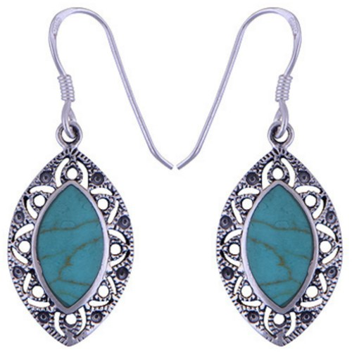 The Blue Eye Silver Earring