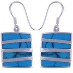 The Turquoise Stack Silver Earring