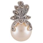 The Pearl Marcasite Silver Pendant