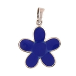 The Lapis Silver Flower Pendant